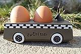 Holz Eierhalter Auto Zweisitzer 15 x 5 cm Frühstücksei Tischdeko Eierbecher