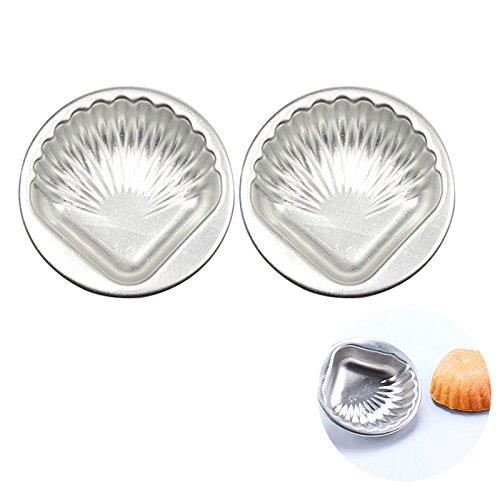 ultnice 2pcs Backformen Bombe des Metall Schimmel der Aluminium-Legierung DIY Shell für die Dekoration der Kuchen -