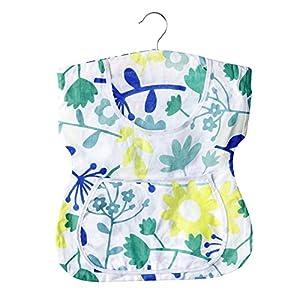 WENKO 3714010100 Wäscheklammer-Kleid, Baumwolle, 33 x 45 x 1 cm, Mehrfarbig