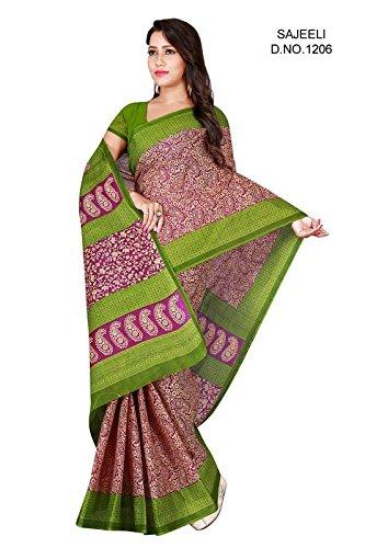 D D Enterprise Women's Cotton Sarees(A 3_Multicolour_FreeSize)