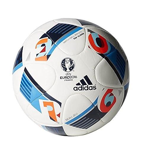 adidas Top Glider UEFA Euro 2016 Ballon White/Bright Blue/Night Indigo Taille 5