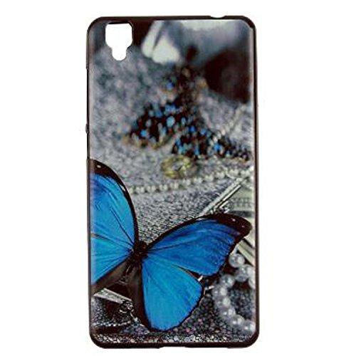 Yrlehoo Für Bluboo Maya, Premium Softe Silikon Schutzhülle für Bluboo Maya Tasche Case Cover Hülle Etui Schutz Protect, Schmetterling
