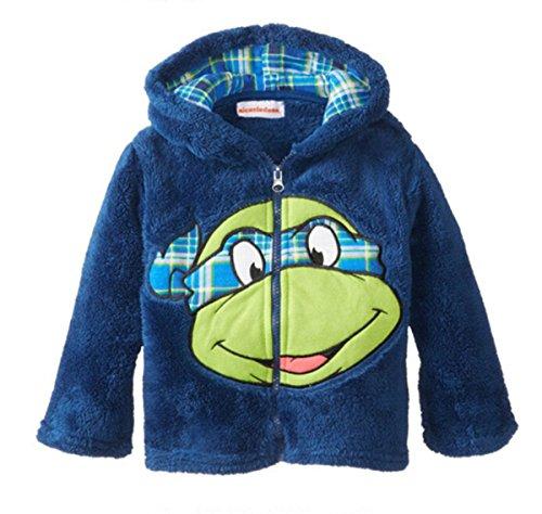 ecollection@ Kids Hoodies Mädchen Jungen Children Cartoon Design Sweatshirt Children Coat Fleece Jacket (110cm 5 Years, Ninja Turtles) (Turtle Hoodie Ninja Kinder)