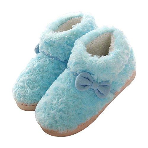Eastlion delle donne e dei bambini inverno bella tenere in caldo anti-Skid peluche casa Scarpe Indoor, Sippers Colore 12