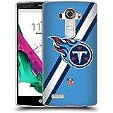 Official NFL Stripes Tennessee Titans Logo Soft Gel Case for LG G4 / H815 / H810