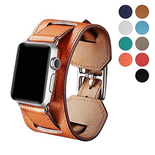b741a434390 WAfeel Bracelet en Cuir pour Montre Apple Watch Bracelet Series 3 42mm 38mm  de Cuir