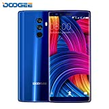 Mobile Phones Cheap,DOOGEE MIX 2 Dual SIM Free Smartphones,4G Unlocked 7.1 Android Phone- 5.99 Inch FHD Display- Helio P25 Processor- 6GB+64GB- 8.0MP Dual Front Cameras- 13MP+16MP Quad-Cameras- 4060mAh- USB Type-C,Face Unlock- Blue