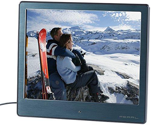 """PEARL Digital Photo Rahmen: Digitaler HD-Bilderrahmen, 20,3 cm / 8\"""", Edelstahl, ultradünne 3,5 mm (Elektronische Bilderrahmen)"""