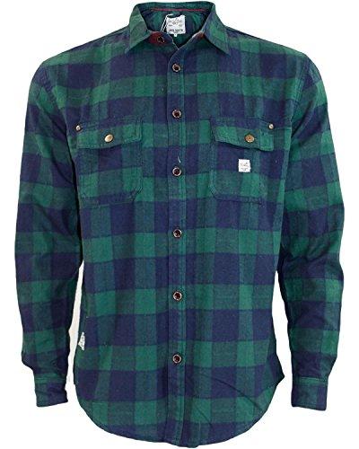 Nuovo da uomo Jacksouth flanella di qualità Lumber Jack Casual 100% cotone da lavoro Green & Navy Check Medium