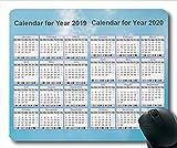 2019 Kalender-Mauspad schwarz, Kalenderjahr Gaming-Mauspad, Kalenderplaner 2019 mit Feiertagsdetails