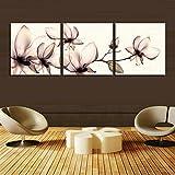 H.COZY 3 paneles de pared modernos Imagen blanco y negro Inicio decorativos de cuadros sobre lienzo (No Frame) Sin MARCO far57 48x16 Pulgadas
