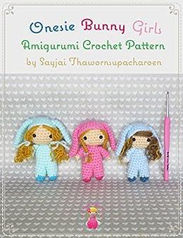 Onesie Bunny Girls Amigurumi Crochet Pattern by [Sayjai Thawornsupacharoen]