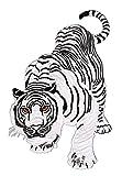 Weißer Tiger Backpatch Rückenaufnäher XXL ca. 18 x 29 cm