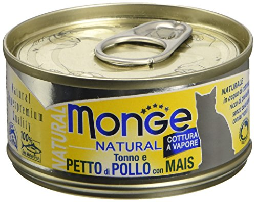 Monge Cat Natural Tonno e Petto di Pollo con Mais 80 gr