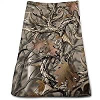 ewtretr Toallas De Mano, Realtree Camo Soft Cotton Large Hand Towel- Multipurpose Bathroom Towels