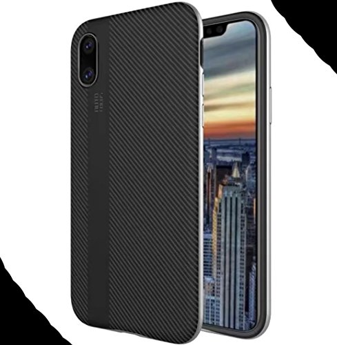 iPhone8 7 Plus Soft Armor Case, Awesome Carbon Fiber Bumper Frame Ultra Hybrid Thin Cover, WEIFA Cool Ultralight Slim Anti-Scratch Phone Case For iPhone 8 7Plus Gold !Silver