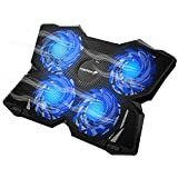Fosmon Laptop Notebook Cooling Pad with 3 Fans & Blue LED Lights