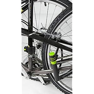 Ertedis 801050 bicycle lock - candados para bicicleta (U-lock, Negro, Verde, Round key)