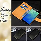 thinkmobile Meizu M5 Premium Leder Flip Case - Meizu M5 Case Hülle Schwarz Pu Leder SchutzHülle Brieftasche Etui