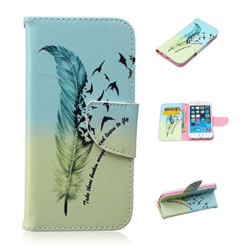 Nutbro iPhone 6S Case, iPhone 6 Wallet Case, [Stand Feature] with Built-in Credit Card Slots Case for Apple iPhone 6 / iPhone 6S 4.7 inch HX-iPhone-6S-37