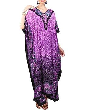 [Sponsorizzato]Miss Lavish London donne Kaftan tunica kimono libero formato lungo maxi partito vestito per loungewear vacanze...