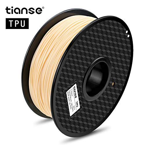 TIANSE Hautton 3D TPU Filament 1,75 mm für 3D Drucker 1 kg, Dimensionsgenauigkeit +/- 0,03 mm MEHRWEG