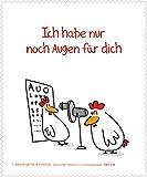 Reinigungstuch Brillenputztuch Hühner: Augen für Dich, Microfasertuch Reinigungstücher Brillenputztücher Tücher Hahn Huhn