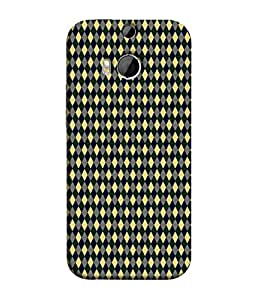 PrintVisa Designer Back Case Cover for HTC One M9 Plus :: HTC One M9+ :: HTC One M9+ Supreme Camera (Yellow Green Diamond Pattern)