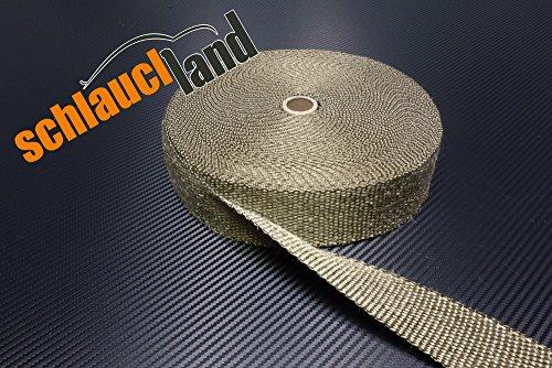 15m Titan Hitzeschutzband 25mm 1400°C SCHLAUCHLAND*** Auspuffband Thermoband Krümmerband Heat Wrap Basaltfaser Isolierband