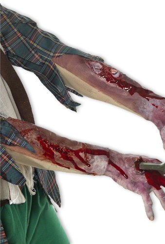 Blutige Armstulpe mit Narben aus Latex in Einheitsgröße für ()