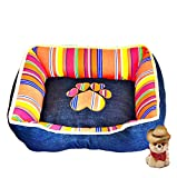 Pet Bed Pet Cave Dog Puppy Cat Kennel House Bed Denim RE-003 , B , l