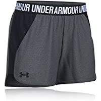 Under Armour, Play Up Short 2.0, Pantaloncino, Donna, Grigio (Carbon Heather/Black/Black 091), S