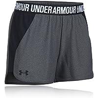 Under Armour, Play Up Short 2.0, Pantaloncino, Donna, Grigio (Carbon Heather/Black/Black 091), S