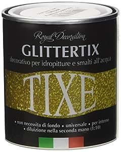 TIXE 625301 Glittertix Glitter per Pittura, Vernice, Argento, 250 ml