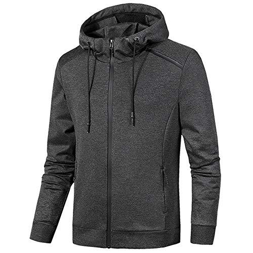 BBestseller Chaqueta de suéter de la Cremallera de los Hombres Sweatershirt Sudadera con Capucha Más Terciopelo Abrigo Outwear Pullover