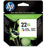 HP 22XL - Cartucho de tinta Original HP 22 XL de álta capacidad Tricolor para HP DeskJet 2130, 3630 HP OfficeJet 3830, 4650 HP ENVY 4520
