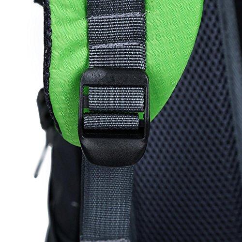 HWJF Klettern Rucksack Multifunktions-Reiten ein Wasserkocher hängen wasserdichte Tasche für Männer und Frauen Outdoor-Sport Reisen Green