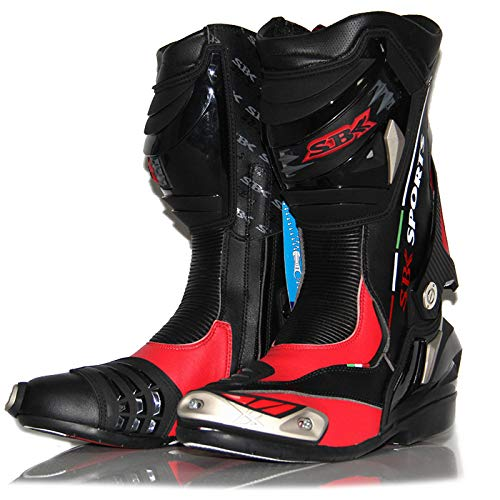 Preisvergleich Produktbild GTYW,  Motorradschuhe,  Straßenrennen,  Straßenrennen,  Radfahren,  Stiefel,  Ritter,  Langlaufschuhe,  Sicherheit,  Schutzausrüstung, Red-43