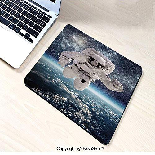 auspad Weltraum Thema Astronaut Milkyway Print Galaxy Sternenstaub Erde Home Decor dekorativ für Büro,Gummimatte 11,8