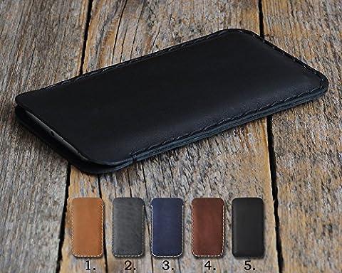 BlackBerry Embossed Cover Genuine Leather Case Sleeve Pouch Shell Monogram your Name Custom Sizes fits KEYone DTEK60 DTEK50 Priv Porsche Design P9983 Graphite Leap