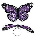 Ring Schmetterling, sortierte Farben, Karneval, Accessoire (lila)