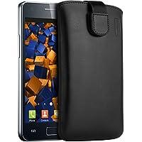 mumbi Echt Ledertasche für Samsung Galaxy S2 i9100 (Lasche mit Rückzugfunktion)