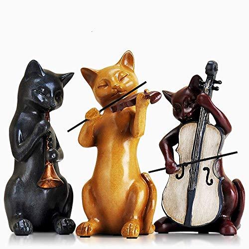 BEAUTYLE Innenschlafzimmerraum-Persönlichkeitseinrichtungsgegenstände der kleinen Verzierungen der netten Katze amerikanisches Handwerk -
