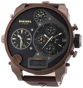 Reloj Diesel DZ7246 y digital de cuarzo para hombre con correa de piel, color marrón de Relojitos Euromediterranea