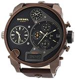 Diesel - DZ7246 - Montre Homme - Quartz Analogique - Digital - Cadran Noir - Bracelet Cuir Marron
