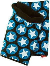 Warmes WOLLHUHN Halstuch, Schal in schwarz mit coolen Sternen für Jungen und Mädchen, Innenseite aus Fleece 20140915