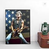 LaMAGLIERIA Poster Bruce Springsteen - sur Papier Photo Brillant - Formato, 50cmx70cm