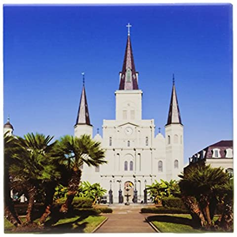 3dRose ct_90502_2 Louisiana, New Orleans, St Louis Cathedral US19 WBI0208 Walter Bibikow Ceramic Tile, 6Inch