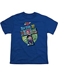 237430d1124d Teen Titans Go! Cartoon Series T-Tower Big Boys Youth T-Shirt Blue
