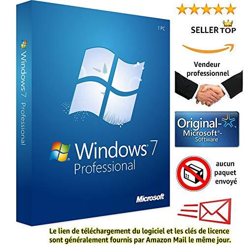 Windows 7 professionnel 32/64 Bits Licence | Français | Clé d'activation originale et livraison gratuite par e-mail